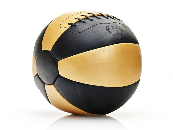 MVP Leather Balls - Black / Gold Leather Medicine Ball