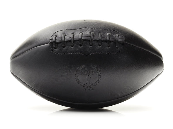 MVP Leather Balls - Executive Leather Football, Black Lace