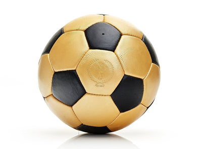 MVP Leather Balls - Gold / Black Leather 32P Soccer Ball
