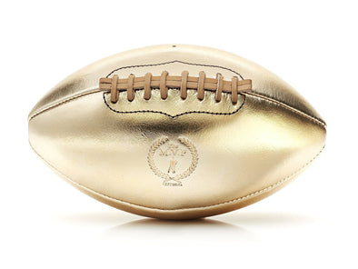 MVP Leather Balls - Gold Leather Football, Tan Lace