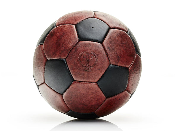 MVP Leather Balls - Heritage Brown / Black Leather 32P Soccer Ball