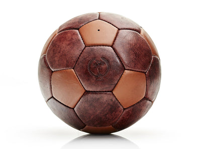 MVP Leather Balls - Heritage Brown / Tan Leather 32P Soccer Ball