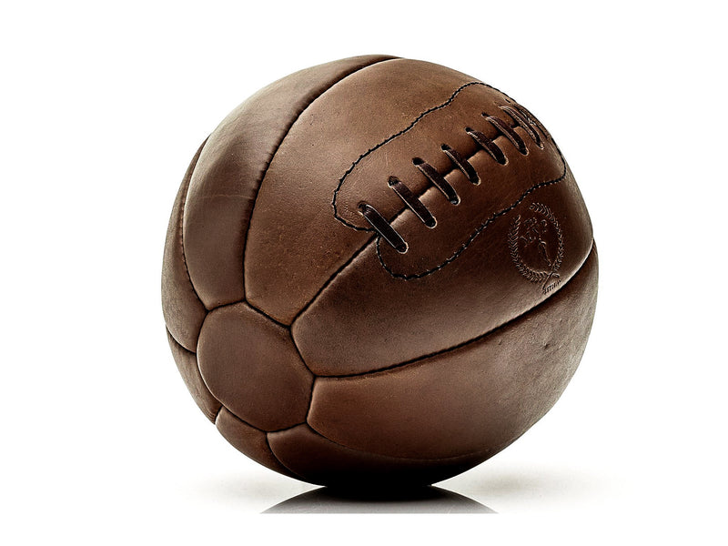 RETRO Heritage Brown Leather Medicine Ball