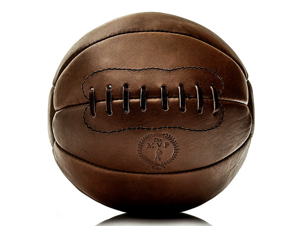 Heritage Brown Leather Medicine Ball Set