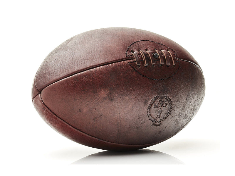 Brand New Vintage Leather Rugby Ball size 5 Retro style Antique Look