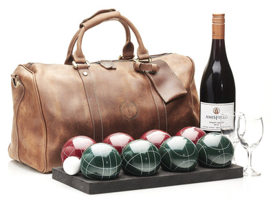 MVP Petanque - Deluxe Leather Bocce Set