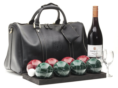 MVP Petanque - Executive Leather Bocce Set