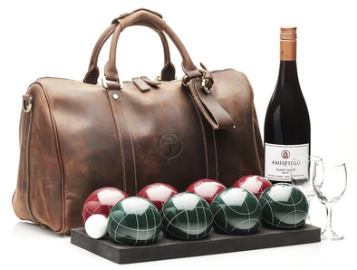 MVP Petanque - Heritage Leather Bocce Set