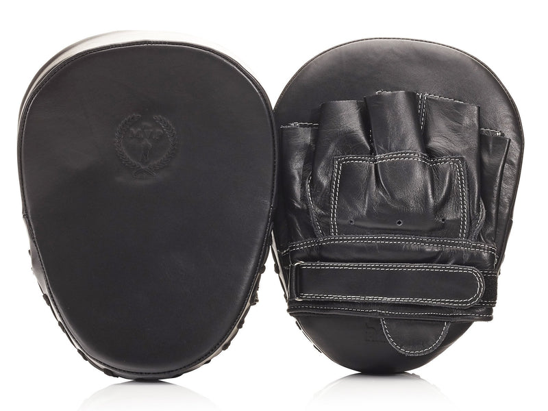 PRO Executive Black Leather Focus Pads, White Stitch