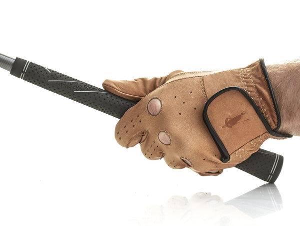 PRO Deluxe Tan Leather Golf Gloves (3 Pack)