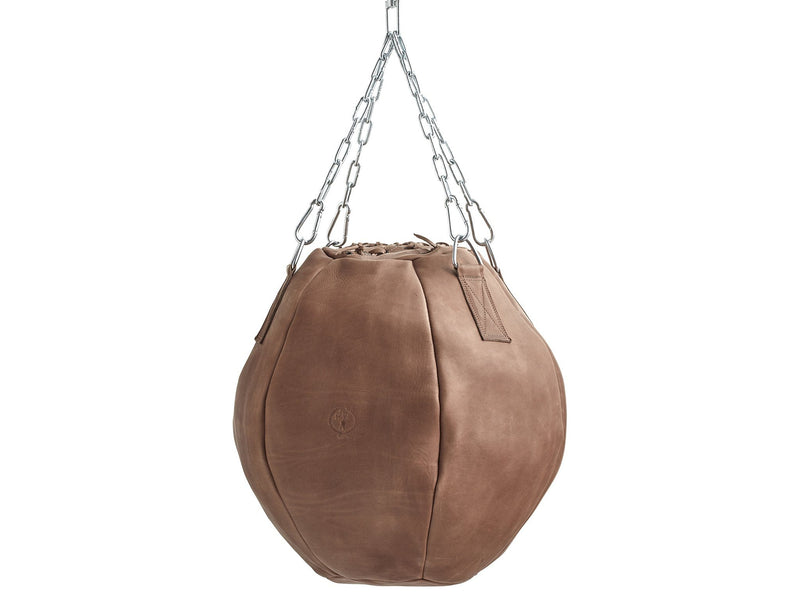 Deluxe Tan Leather Wrecking Ball (un-filled)