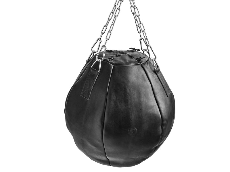 Executive Black Leather Wrecking Ball (un-filled)