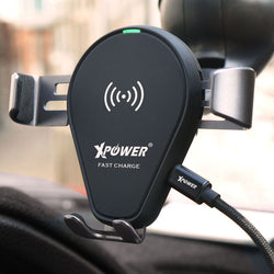 XPower 2 in 1 Fast Charge Wireless Charging Car Mount Holder