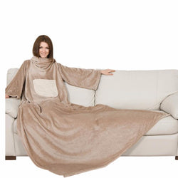 Lavatelli Kanguru Blanket with Sleeves - Cream - Gadgitechstore.com