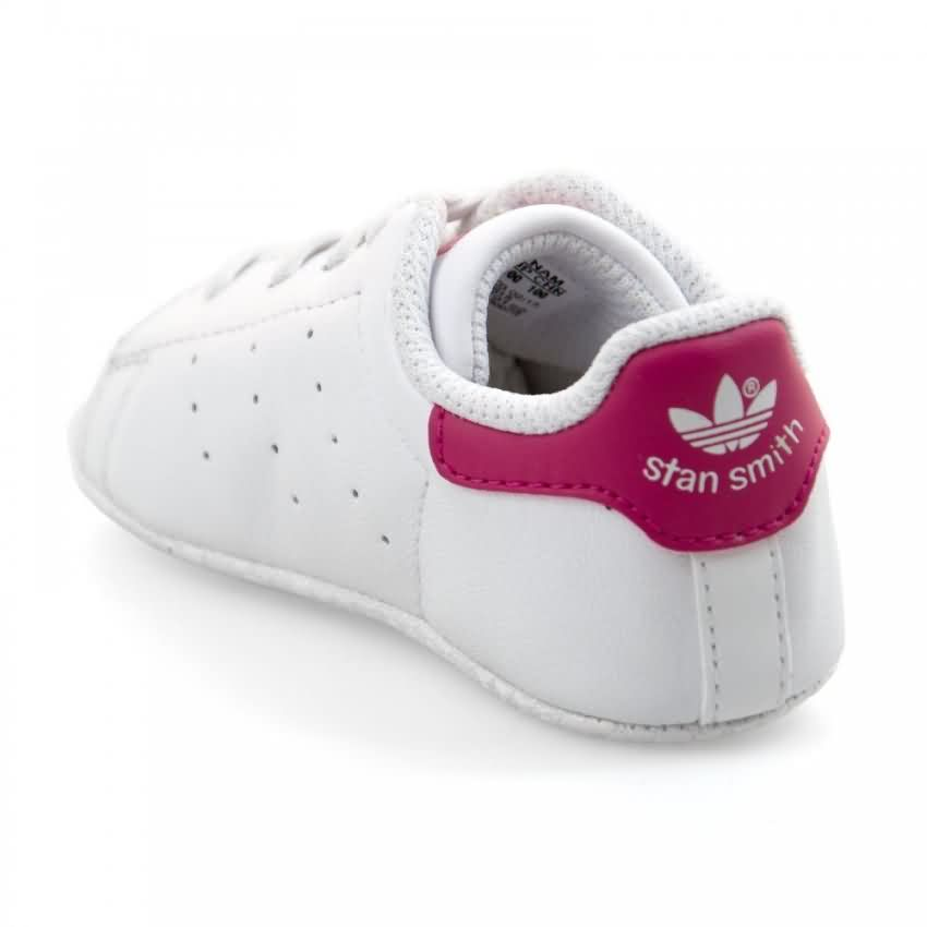 new concept 0efb4 b5e03 Adidas Girls' Original Stan Smith Crib Shoes