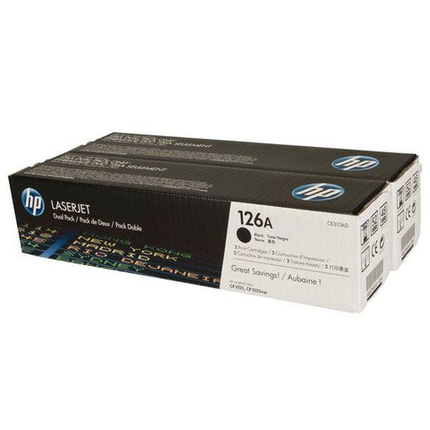 HP 126A 2-pack Black Original LaserJet Toner Cartridges - Gadgitechstore.com