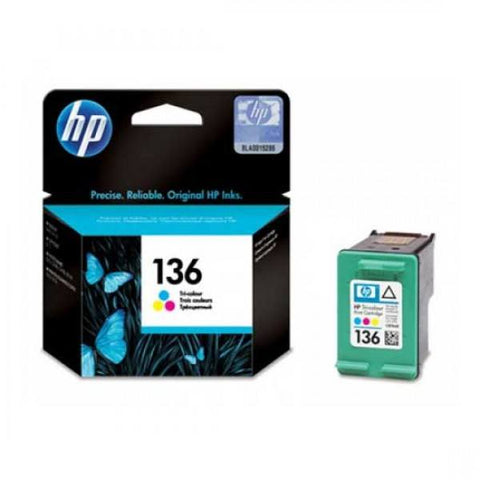 HP 136 Tri-color Original Ink Cartridge