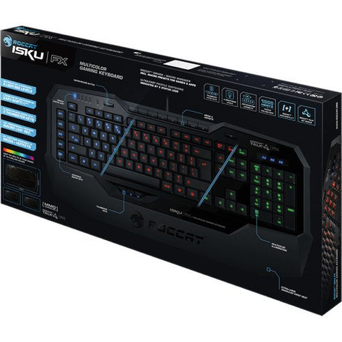 Roccat Isku FX Multicolor Gaming Keyboard, US Layout