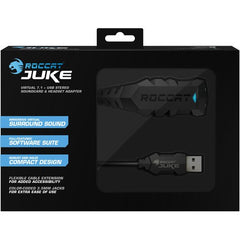 ROCCAT Juke Virtual 7.1 + USB Stereo Soundcard & Headset Adapter