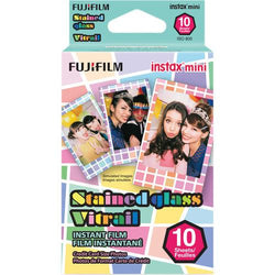 Fujifilm instax mini Stained Glass Instant Film (10 Exposures) - Gadgitechstore.com