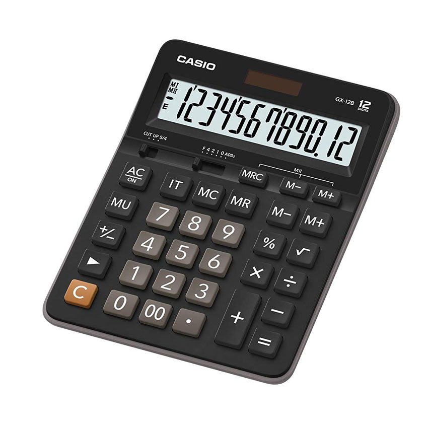 Casio Large Display 12 Digit Basic Desk Calculator GX-12B