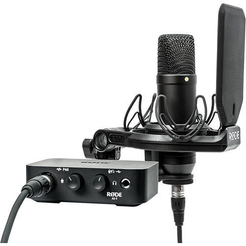 Rode Complete Studio Kit with AI-1 Audio Interface & NT1 Microphone
