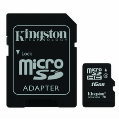 Kingston Micro SD w/ 1 Adapter CLASS 4 - Gadgitechstore.com