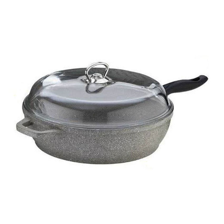 Falez Silico-Cast Granitec Deep Frying Pan With Lid