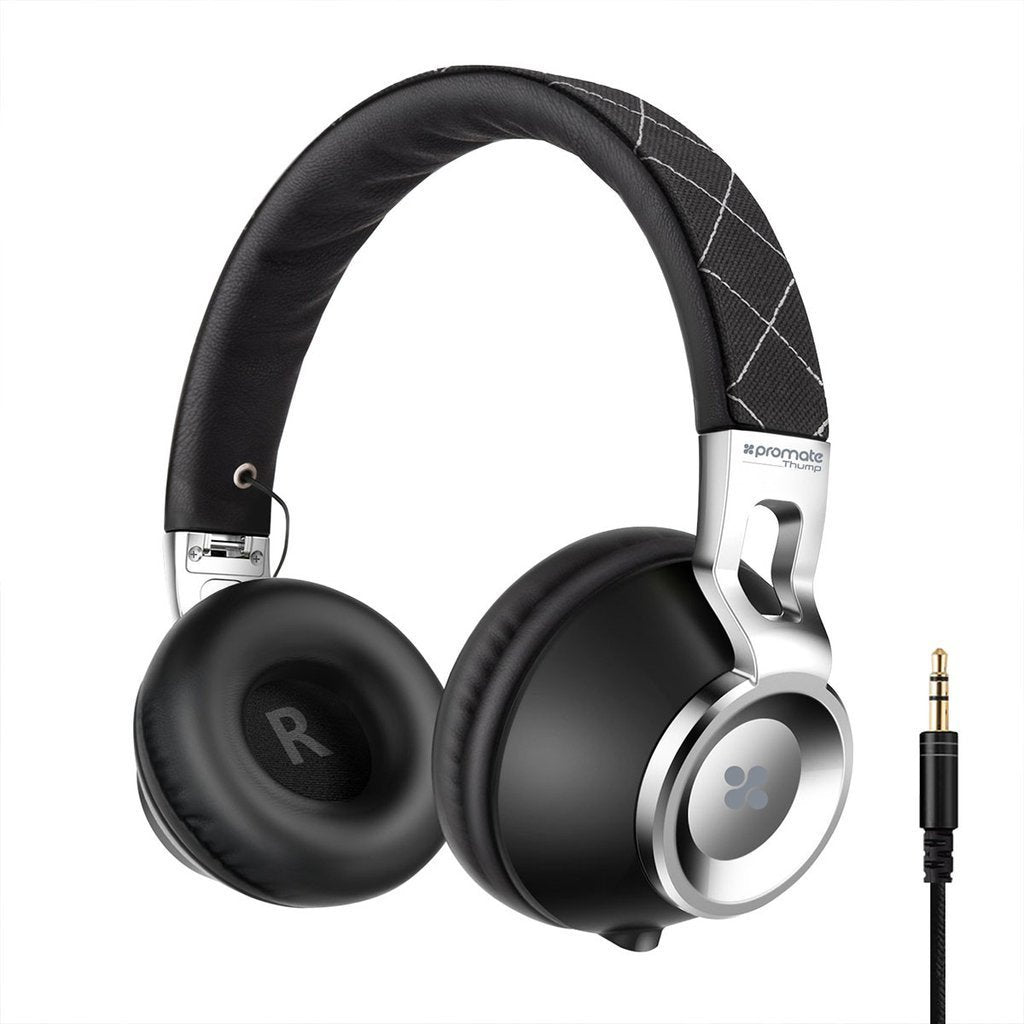 808a15d5ffe Promate Comfort-Fit On-Ear Stereo Wired Headset Thump – Gadgitechstore.com
