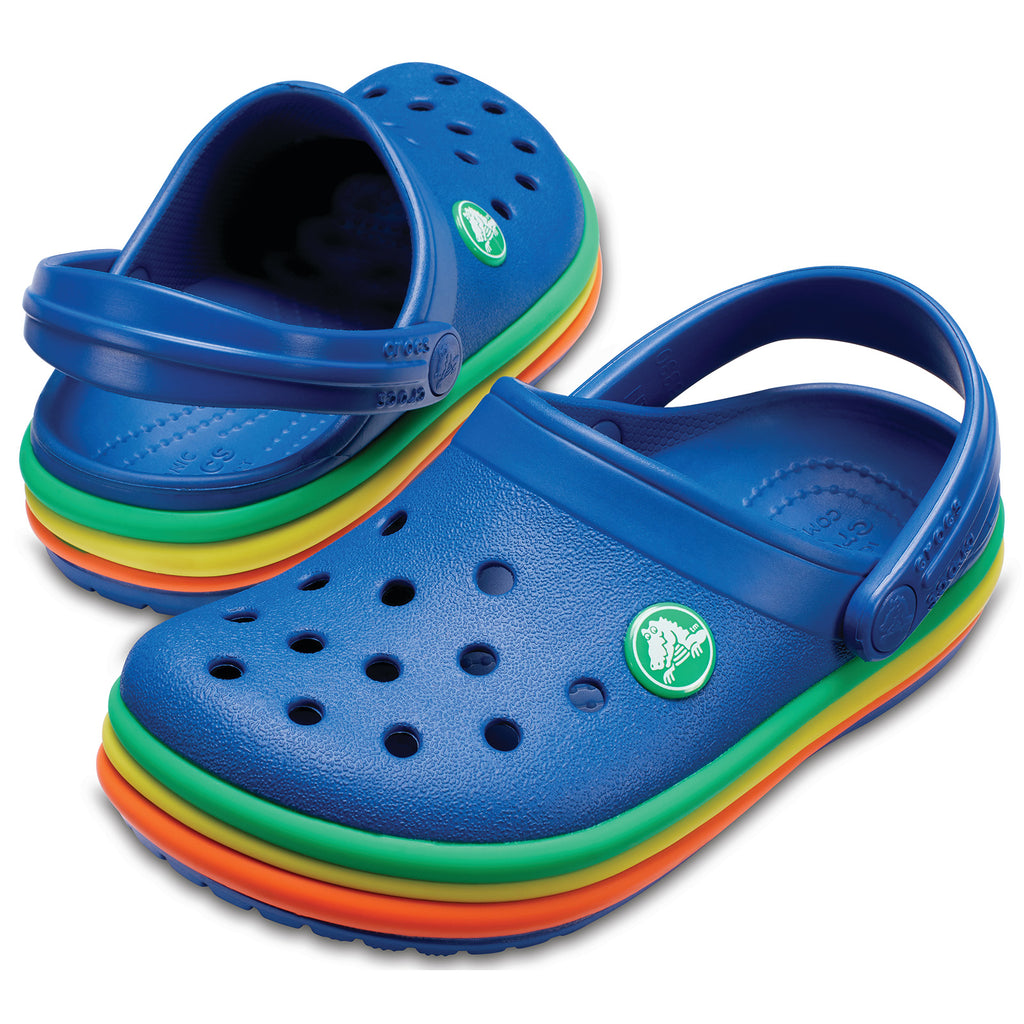 8a59552419ef4d Crocs Kids  Lifestyle Rainbow Band Clog Slippers – Gadgitechstore.com