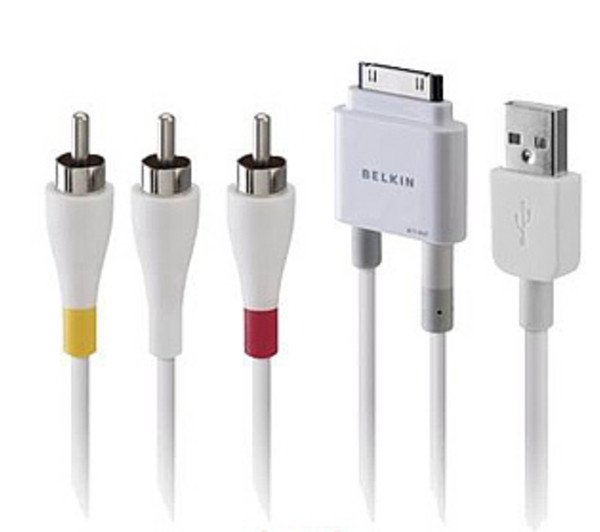 Belkin Audio & Video Cable for iPod & iPhone - Gadgitechstore.com