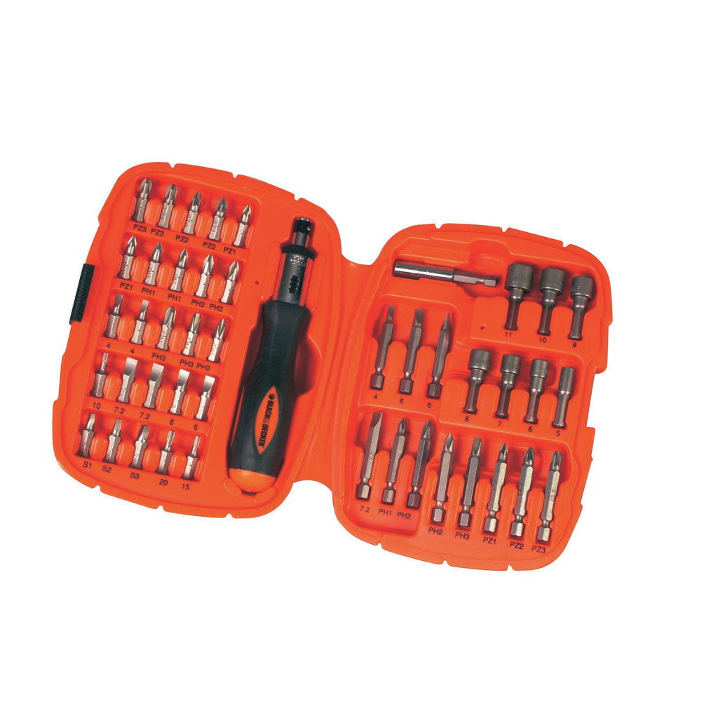 Black+Decker 45 Pieces Screwdriver Bit Set