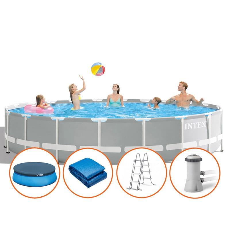 Intex Prism Frame Round Pool Set with Filter Pump 15ft x 48""