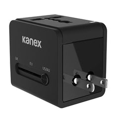 Kanex 4-In-1 International Power Adapter With 2 X USB ( 1A, 2.1AMP MAX )