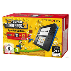 NINTENDO 2DS SUPER MARIO BROS 2 Bundle + 2 Games