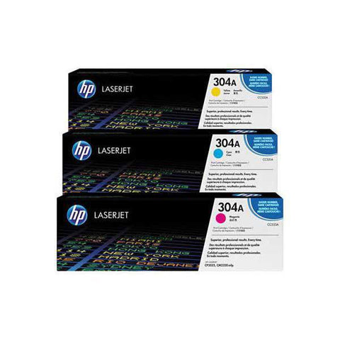 HP 304A 3-pack Original LaserJet Toner Cartridges