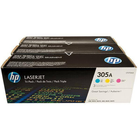 HP 305A 3-pack Original LaserJet Toner Cartridges