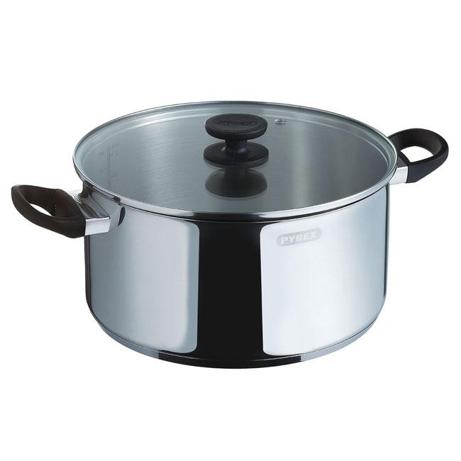 Pyrex Pronto Stainless Steel Casserole