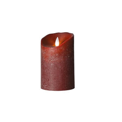 Sompex Led Wax Candle Frosted Bordeaux