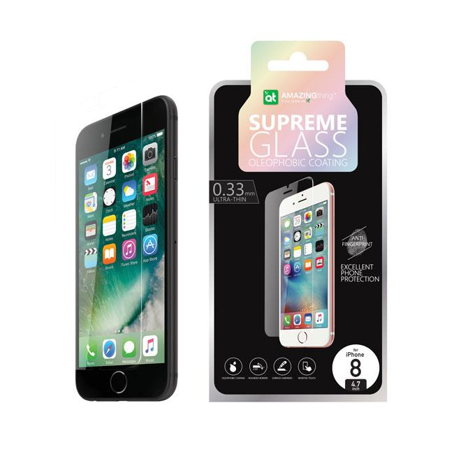 AMAZINGthing iPhone 8 / 8 Plus 0.33mm Supreme Glass (Crystal)