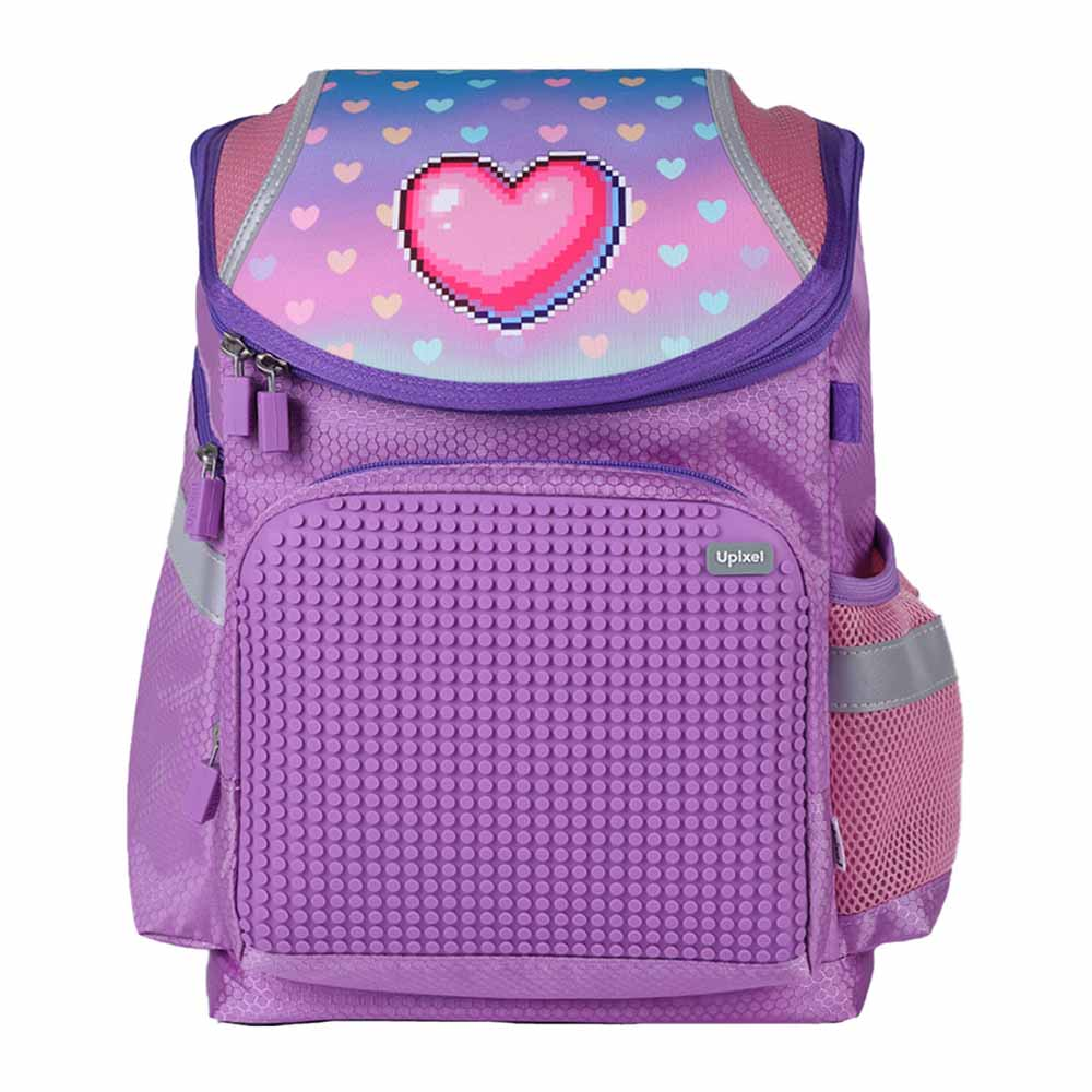 Upixel A-019 School Bag Super Class Hearts Purple