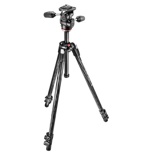 Manfrotto MK290XTC3-3W 290 Xtra Carbon Fiber Tripod with 804 3-Way Pan/Tilt Head