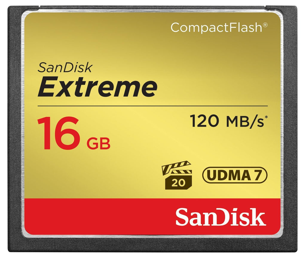 SanDisk SDCFXS-016G-X46 Extreme CompactFlash UDMA7 Memory Card - Gadgitechstore.com