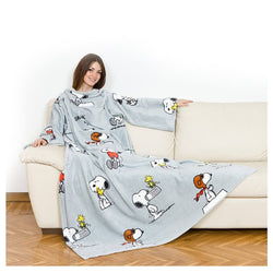 Lavatelli Kanguru Blanket with Sleeves - Snoopy - Gadgitechstore.com