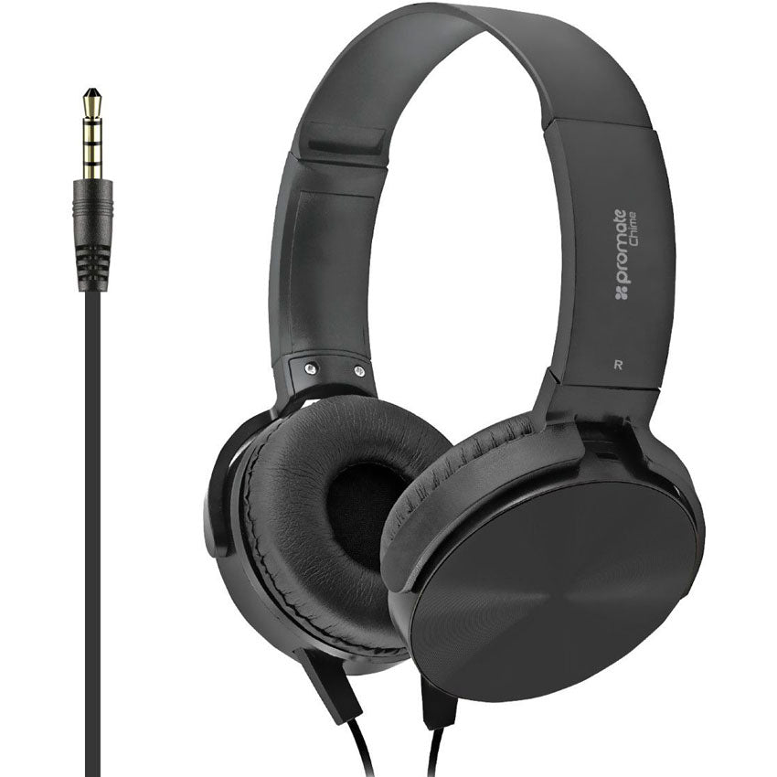 Promate Wired Professional On-Ear Noise Cancelling Headsets with In-Line Microphones