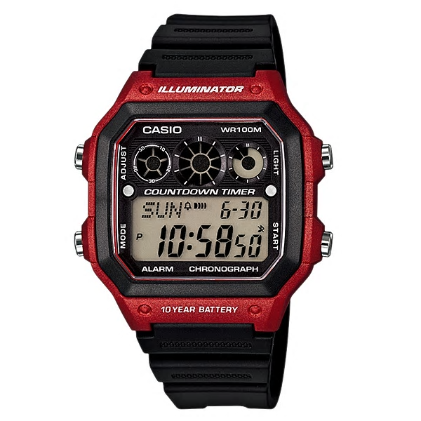 Casio Watches General Digital AE-1300WH-4AVDF (CN)