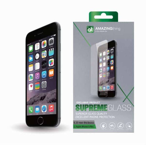 AMAZINGthing iPhone 6 Plus / 6S Plus 0.33mm Supreme Glass (Crystal) - GadgitechStore.com Lebanon - 1