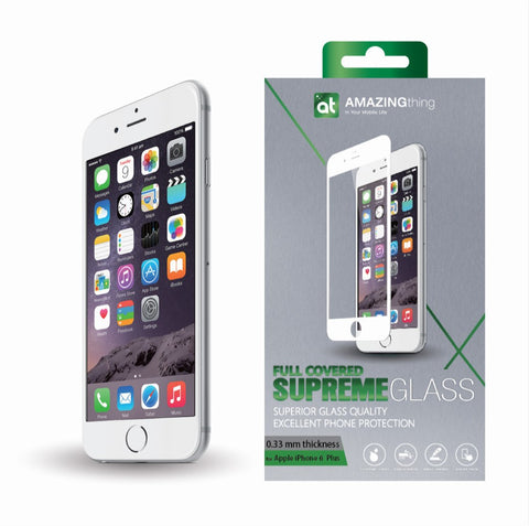 AMAZINGthing iPhone 6/6S Plus 0.33mm Fully Covered TEMPERED GLASS - GadgitechStore.com Lebanon - 1
