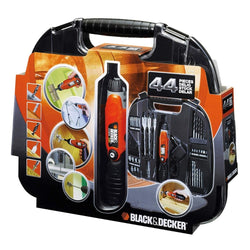 Black + Decker Cordless Screwdriver with 44 Pieces Accessories
