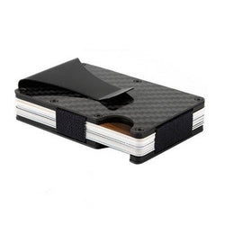 Deet Slim RFID Blocking Card Holder Carbon Fiber Wallet CFW1